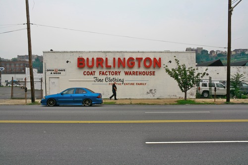 Burlington Coat Factory in Hoboken, New Jersey in the 70's/80's. Image via http://images.ookaboo.com/
