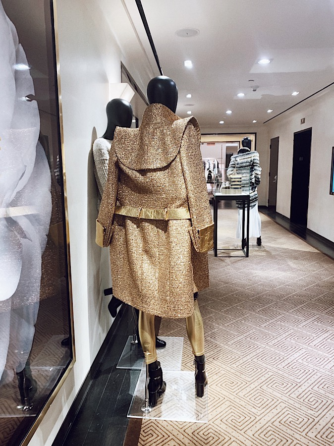 Chanel gold trench coat, bergdorf goodmans, classism, Nida Chowdhry, New York City, Manhattan, class differences